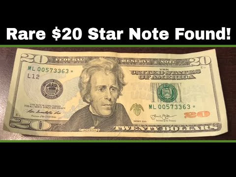 Searching $5,000 in Currency  Rare $20 Star Note Found!