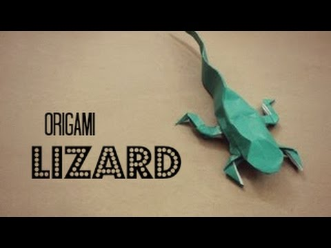 How To Make An Origami Lizard Justin Nachsin Youtube