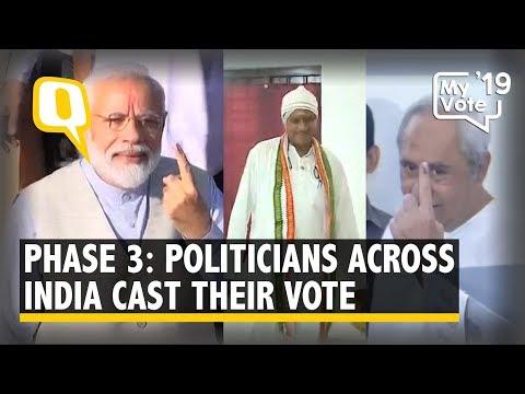 LS Polls Phase 3: Politicians Cast Their Votes Across 117 Constituencies | The Quint