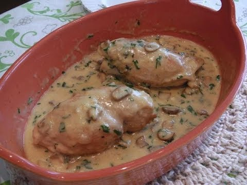 CHICKEN BREAST FILLETS WITH SPINACH AND FETA - STAVROS' KITCHEN - GREEK CUISINE