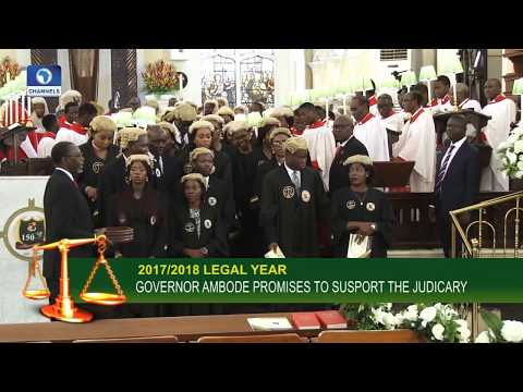 Gov. Ambode Pledges Unflinching Support For Judiciary In Lagos State |Law Weekly|