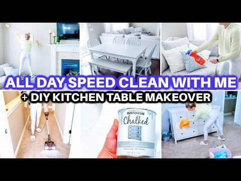 ULTIMATE SPEED CLEAN WITH ME 2021| EXTREME CLEANING MOTIVATION | CHALK PAINT FURNITURE FLIP MAKEOVER