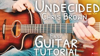 Undecided Chris Brown Guitar Tutorial // Undecided Guitar // Guitar Lesson #624