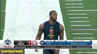OJ Howard | 2017 NFL Combine 40 Yard Dash, All Drills + Interview | NFL Highlights HD