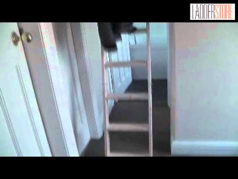 Youngman Eco S Line Extra Tall Timber Loft Ladder Demo