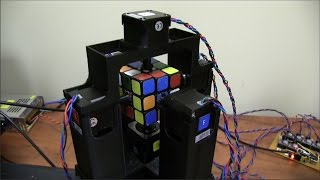 World's Fastest Rubik's Cube Solving Robot - Now Official Record is 0.900 Seconds(Open sourced! Get the files at: https://github.com/jayflatland/HighFrequencyTwister We did it!! On February 5th we set the record at 0.900 seconds!, 2016-01-12T03:46:29.000Z)