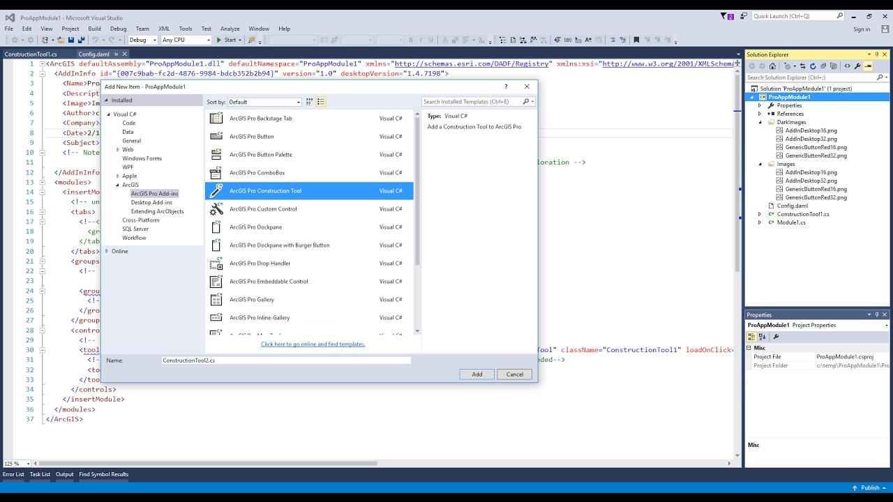 ArcGIS Pro SDK - Construction Tool Basics