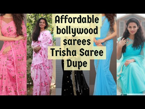 #Affordable Bollywood Sarees Online||Trisha Saree||malayalam Beauty Blogger