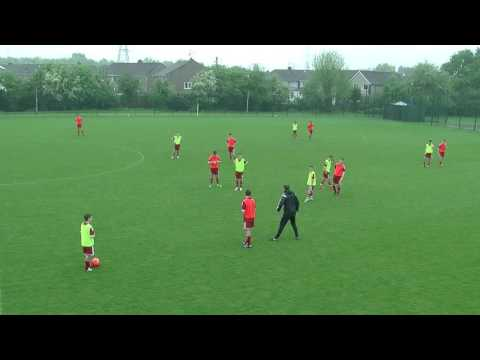 Daniel Nolan UEFA 'A' Licence session 1/2 pitch practice