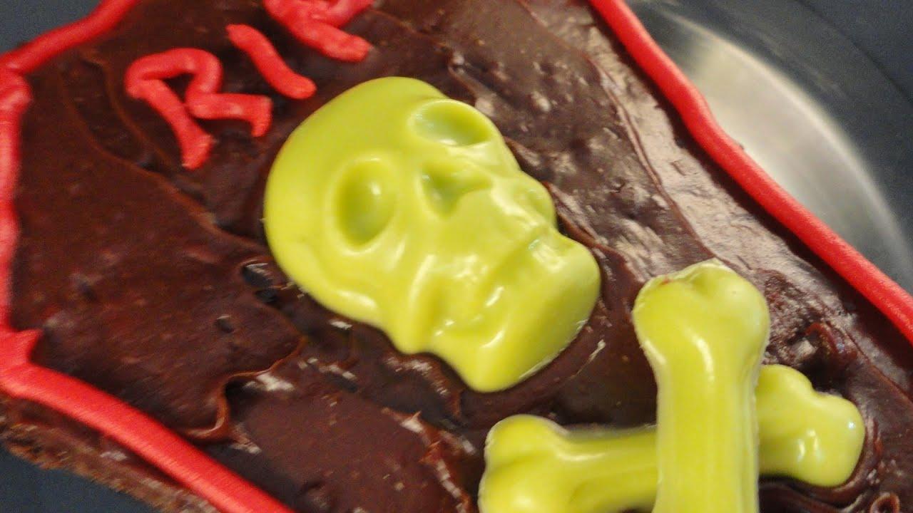 Halloween Coffin Brownies Wilton Skeleton Mold