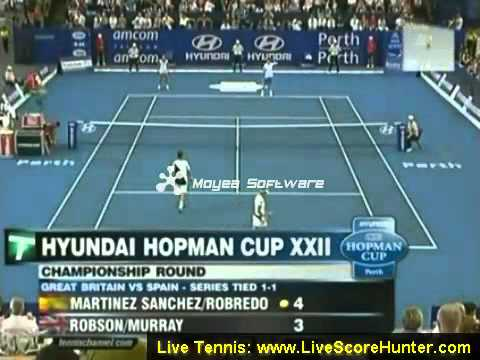 Luara Robson Andy Murray vs Martinez Sanchez Robredo Hopman cup 2010