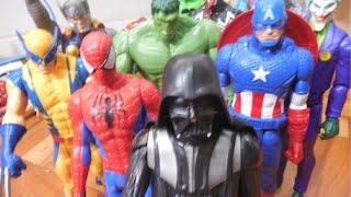 Homem Aranha Hulk Wolverine Thor Capitão América X Darth Vader Coringa Venom Marvel Avengers Toys