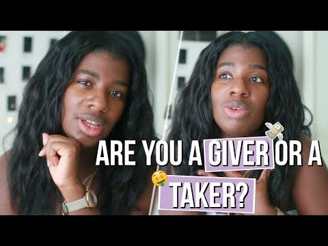 giver dating a taker
