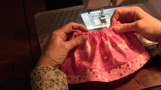 Repeat youtube video 18 inch Doll Skirt (American Girl) - How to make a doll skirt