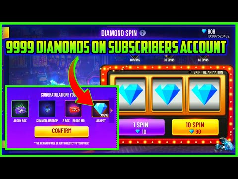 9999 DIAMONDS IN SUBSCRIBERS ACCOUNT || SPIN 10 DIAMONDS || MG MORE