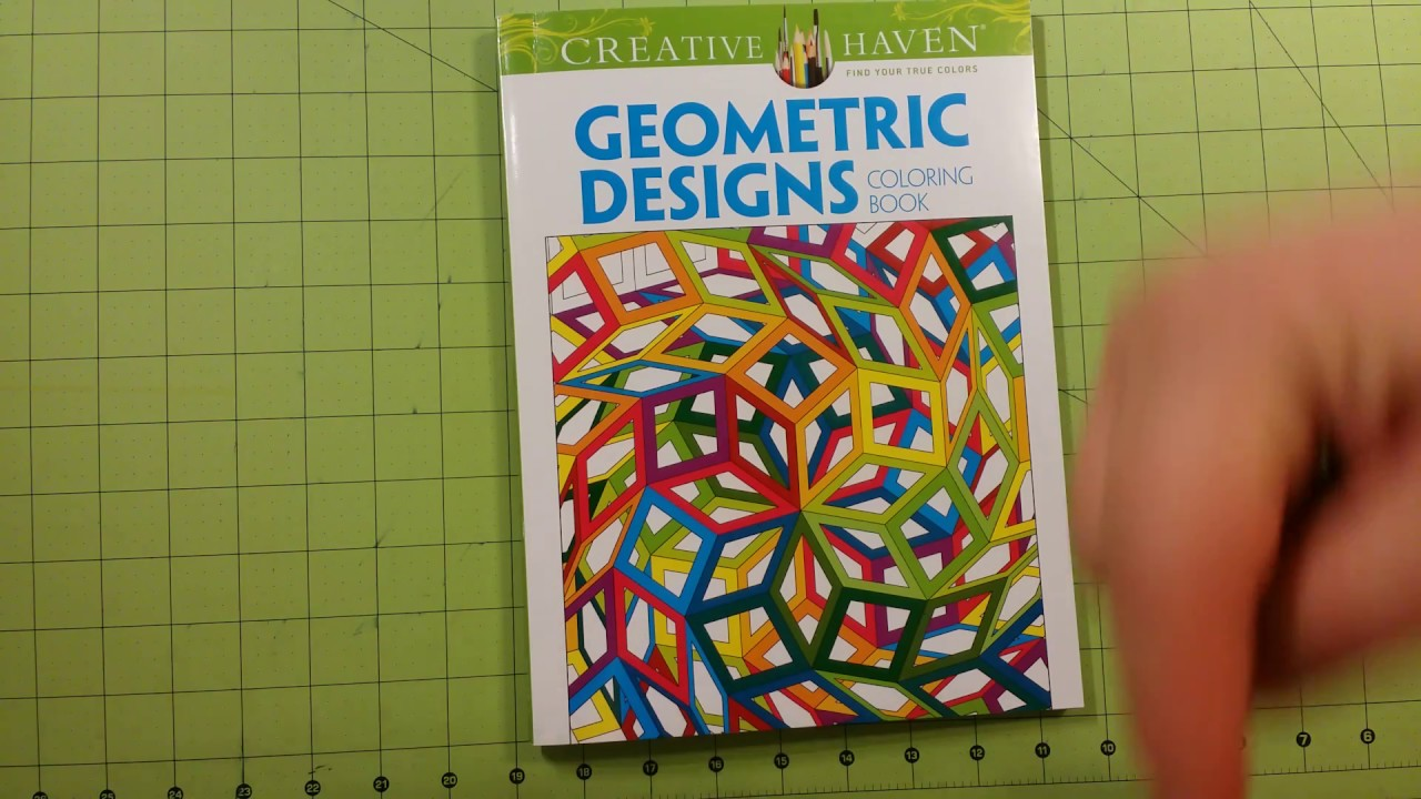 The geometric designs coloring book review flip through dover ...