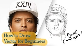 PaintTool SAI Tutorial: How to Draw Vector for Beginners [Bruno Mars 24k Magic]