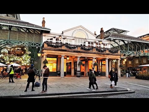 Walking Covent Garden at Sunset | London Walk 2020