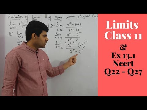 Limits Class 11th Ncert Exercise 13.1 / Part 03