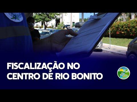 FISCALIZAÇÃO NO CENTRO DE RIO BONITO