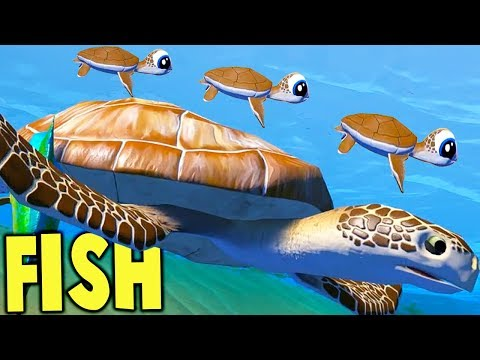 Feed and Grow Fish - GIANT SEA TURTLE FAMILY, ANGLER FISH BA