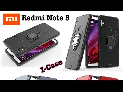 28ef9169bc5 Redmi Note 5 Pro Iron Armor Case Casing Cover With i-ring new - YouTube