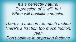 Tim Finn - Fraction Too Much Friction Lyrics