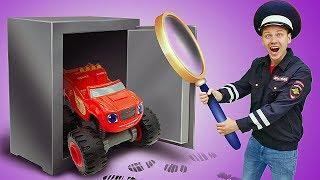 Игрушки из мультфильмов про машинки ведут расследование. Кто ограбил банк?