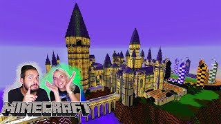 HOGWARTS HARRY POTTER LUCKY BLOCK BATTLE Minecraft! Nina + Kaan in der Schule für Zauberer & Hexen!