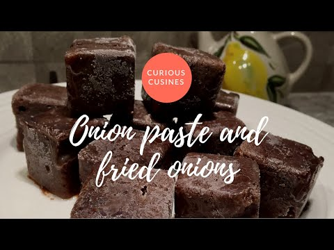 Onion paste cubes and fried onions (in urdu)| Curious Cuisines