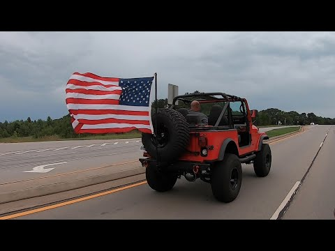 Jeep Update 68 - Bad A** Jeep American Flag Holder