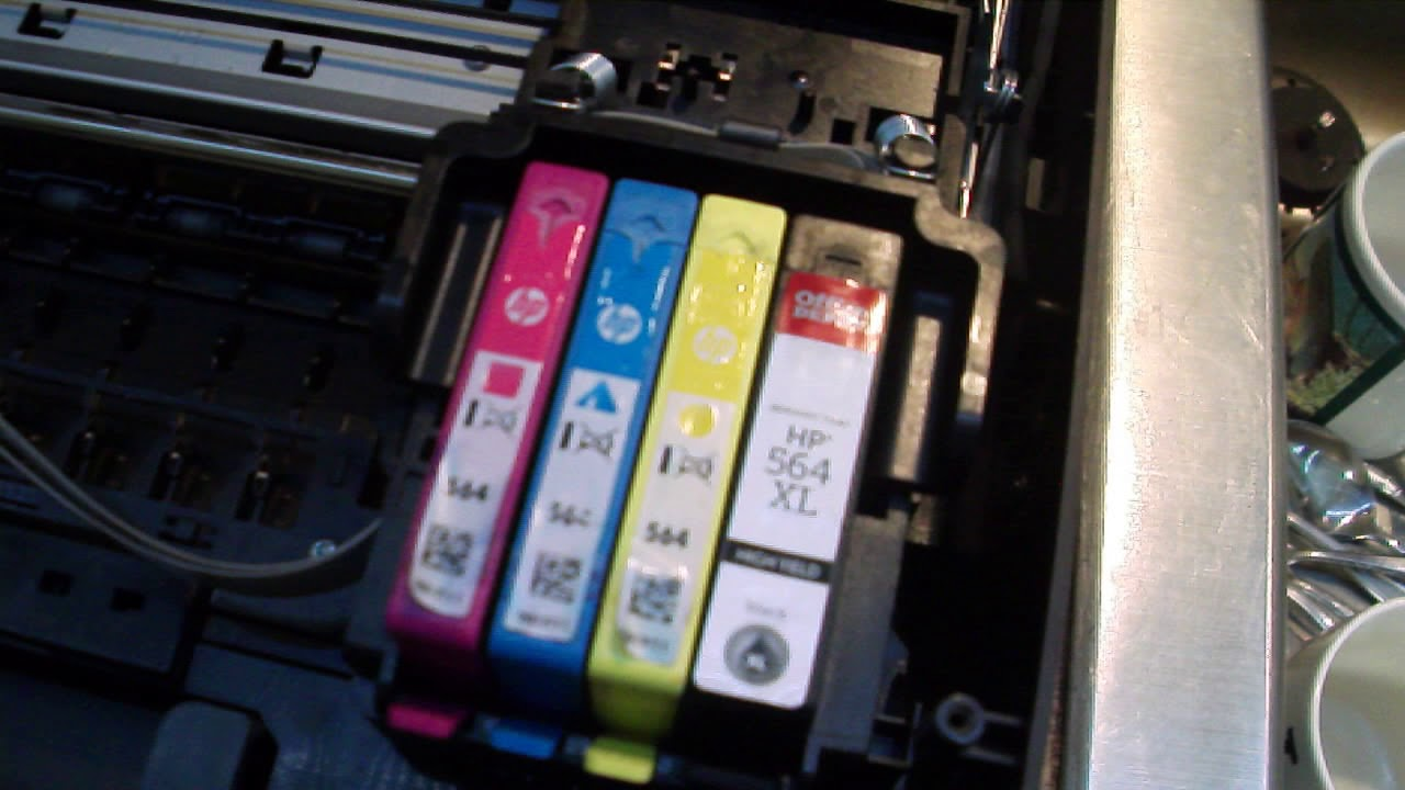 HP Photosmart 6510 print alignment page - YouTube
