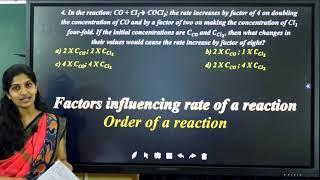 II PUC   CHEMISTRY CET   CHEMICAL KINETICS - 2021
