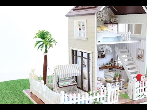 *NEW* DIY DOLLHOUSE PARIS MINIATURE APARTMENT FOR 1:32 Dolls.