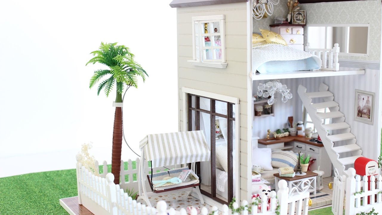 NEW* DIY DOLLHOUSE PARIS MINIATURE APARTMENT ||TiaTia - YouTube