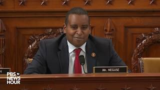 Rep. joe neguse, d-colo., questioned house judiciary and intelligence committee lawyers on dec. 9. the questioning of republican counsel stephen castor d...