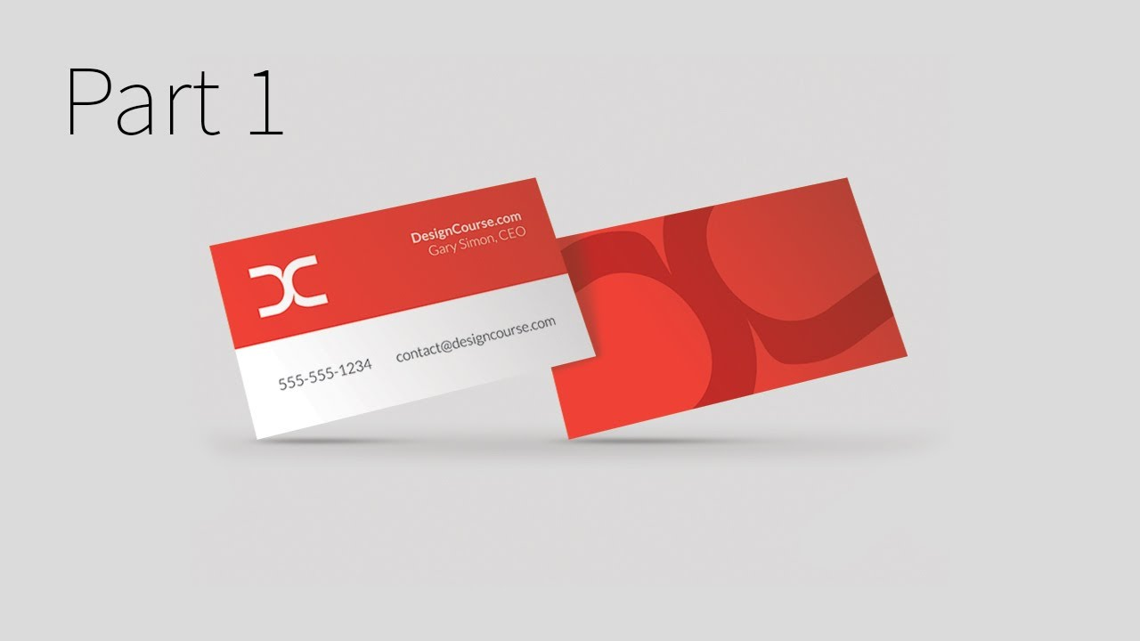 Modern business card design in illustrator cc part 1 youtube fbccfo Gallery