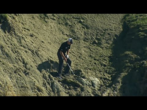 Jim Furyk's shot from the rocky cliffs at AT&T Pebble Beach