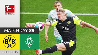 Borussia Dortmund SV Werder Bremen 4 1 Highlights Matchday 29 Bundesliga 2020 21