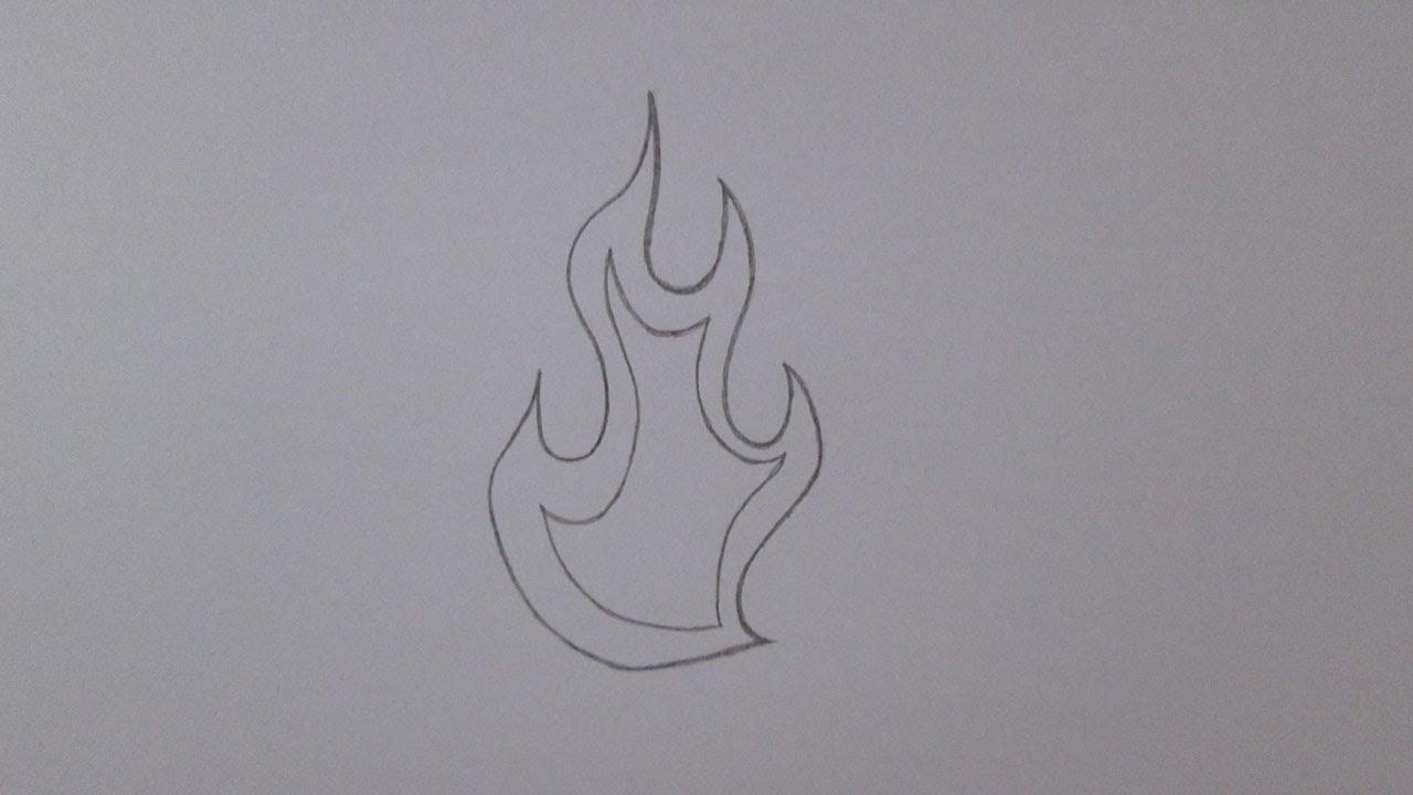 Cómo dibujar una llama de fuego - YouTube