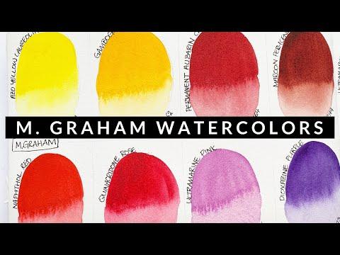 Swatching M. Graham Paints Part 2 | Vlogmas Day 18