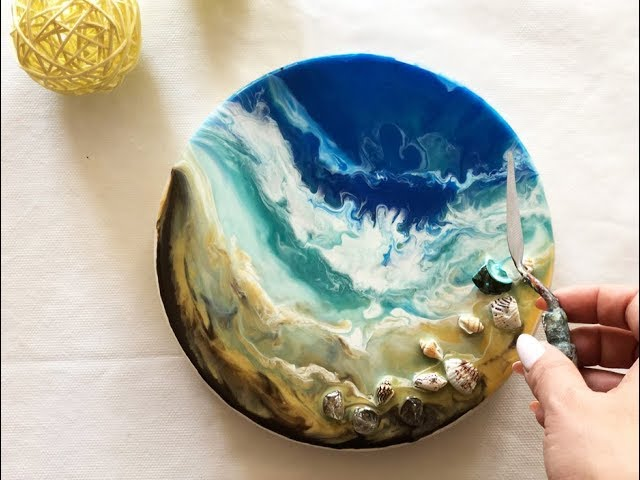 How to make a resin ocean / Demonstration /Epoxy Resin Technique by Julia Kotenko