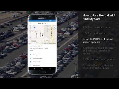 How To Use Hondalink Find My Car On The 2018 Honda Accord Youtube