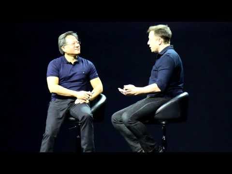 NVIDIA CEO Jen-Hsun Huang Chats With Tesla's Elon Musk @ GTC 2015