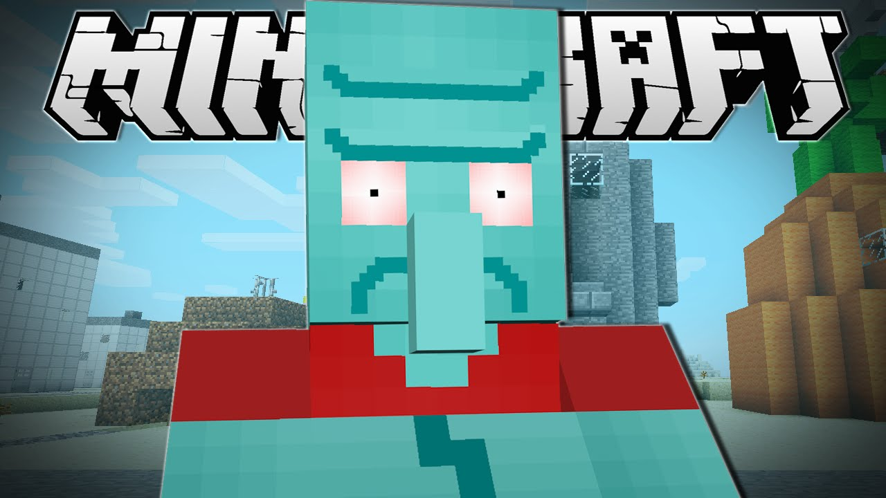 Minecraft Angry Squidward Sneaky Assassins Minigame