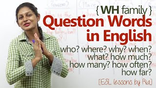 english grammar lesson wh question words improve english speaking
