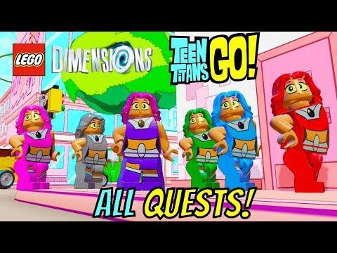 LEGO Dimensions - All Teen Titans Go! Quests (Terra, Rose Wilson, Wonder Twins, Emoticlones & more!)