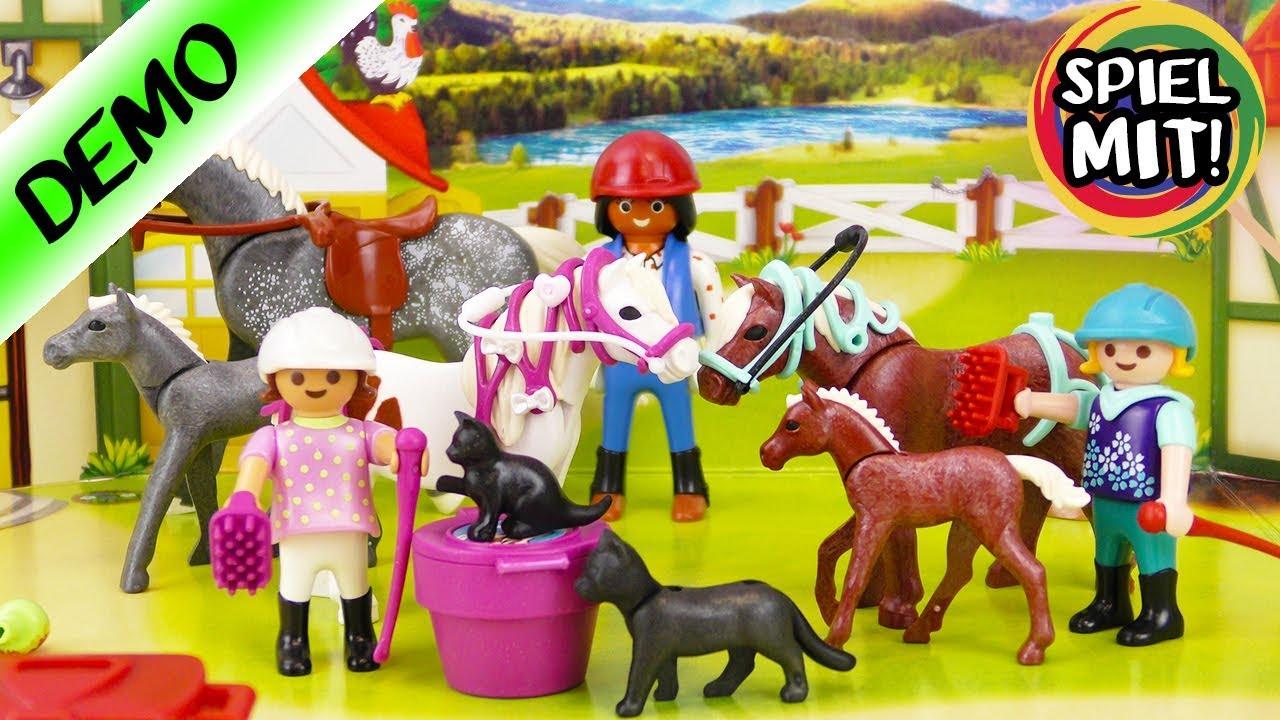 Pferde Weihnachtskalender.Playmobil Adventskalender 2017 Alle 24 Türchen Geöffnet Großer Reiterhof Mit Fohlen Pony Pferd