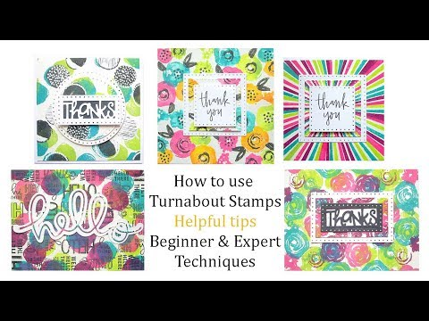 How to use Concord & 9th Turnabout Stamps- Tips & Techniques with Tim Holtz Distress Oxide Inks