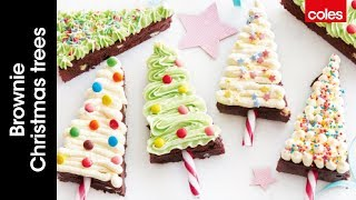 How to make brownie Christmas trees